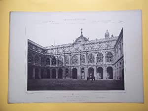 MADRID. Real Palacio - Patio Principal. Blatt 144. Die Baukunst Spaniens in Ihren Hervorndsten We...