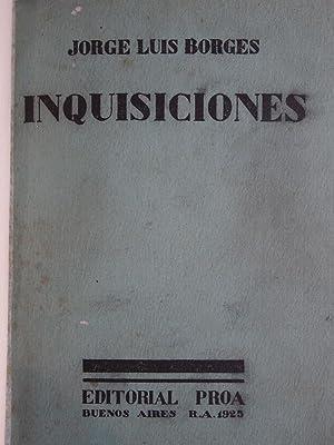 INQUISICIONES.: BORGES, Jorge Luis.