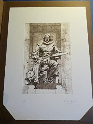 Velázquez. Aguafuerte original. IV Centenario de Velázquez.: Dino Corrado Ciacci.