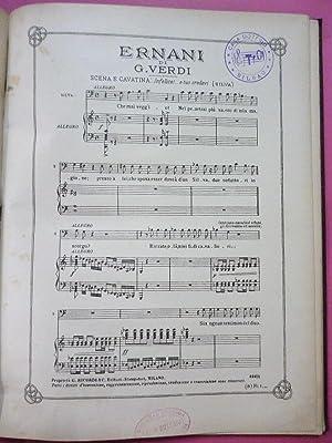 Trozos de Opera. Solos para Bajo. Ernani.: Verdi. Gounod. Meyerbeer.
