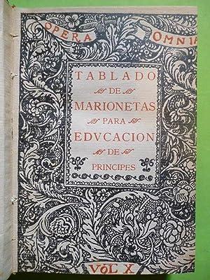 TABLADO DE MARIONETAS para Educación de Príncipes.: VALLE-INCLÁN, Ramón del.