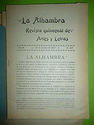 La Alhambra [Informe emitido en Noviembre 1903.á la Comisión de Monumentos]. Art&...