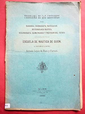 Programa de las Lecciones de Maniobra, Cosmografía,: López de Haro