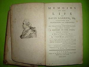 Memoirs of the life of David Garrick: DAVIES Thomas.