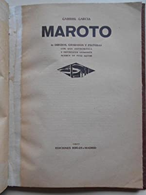 65 DIBUJOS, GRABADOS Y PINTURAS con una: GARCÍA MAROTO, Gabriel.