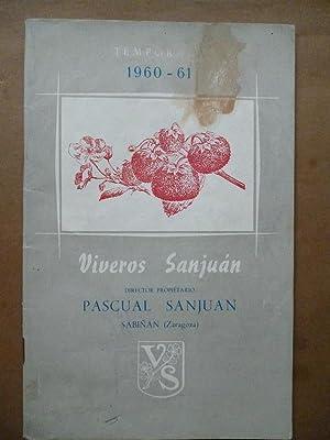 Viveros Sanjuan. Catálogo estractado y precios corrientes.