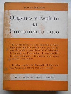 Orígenes y Espíritu del Comunismo Ruso.: Berdiaeff, Nicolás.