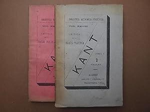 Crítica de la Razón Práctica. Traducción de: Kant, Manuel.