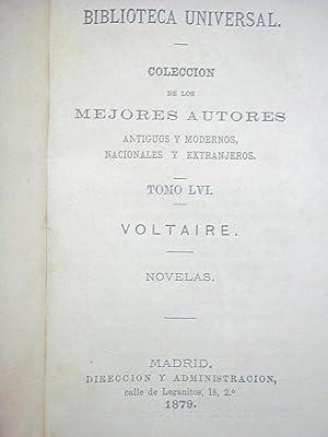 Novelas.: Voltaire.