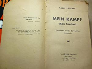 Mein Kampf (Mon Combat.) Traduction exacte de: Hitler, Adolf.