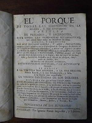 EL PORQUE DE TODAS LAS CEREMONIAS DE LA IGLESIA, y sus Misterios: Cartilla de Prelados, y ...