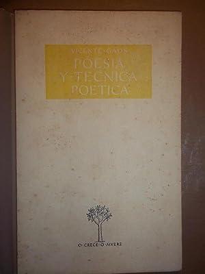 POESIA Y TECNICA POETICA.: GAOS, Vicente.