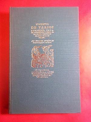FLORESTA DE VARIOS ROMANCES (Valencia 1652). Edición,