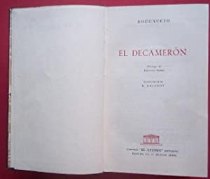 El Decamerón. Prólogo de Giovanni Papini. Ilustraciones de B. Kruikov.: Boccaccio.