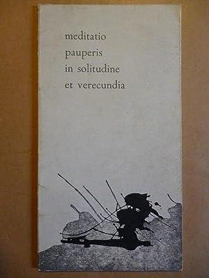 MEDITATIO PAUPERIS in Solitudine et Verecundia.: AGUIRRE ORTIZ, Jesús.