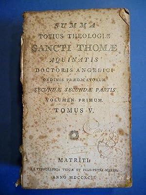 Summa Totius Theologiae S. Thomae Aquinatis, Doctoris: Santo Tomás de