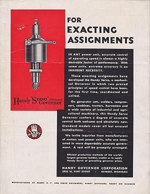 Handy Servo Mechanical Governor for Exacting Assignments: Trade Catalogue] Handy