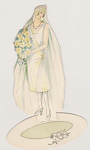 Art Deco Bride/Flapper with Daffodil Bouquet: Art Deco Place