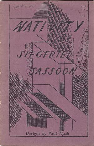 NATIVITY. No. 7: Sassoon, Siegfried &