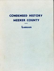 Condensed History of Meeker County, 1855-1939