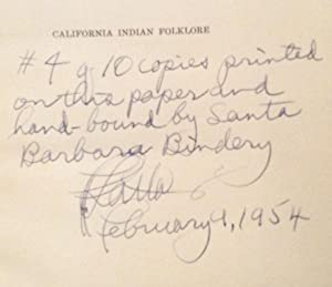 California Indian Folklore (SIGNED): Latta, Frank