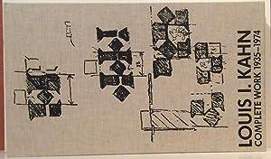 Louis I. Kahn: Complete Works 1935-1974: Ronner, Heinz; Sharad