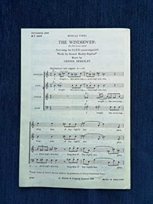 The Windhover: To Christ Our Lord Part-song for SATB [Words by] Gerard Manley Hopkins [Music by] ...