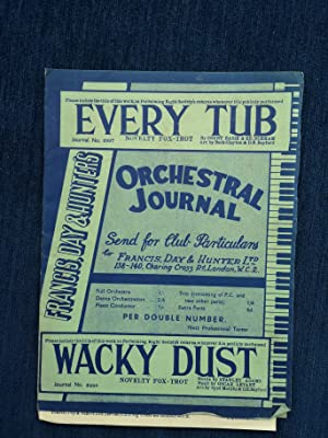 Every Tub/Wacky Dust - Novelty Fox-Trot for Dance Orchestra