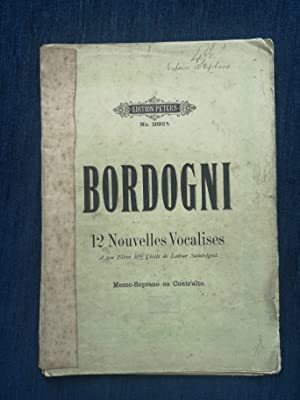 Bordogni -12 Nouvelles Vocalises - Peters Edition no. 2892