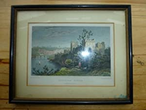 Coloured engraving of Chepstow Castle