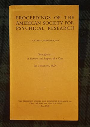 PROCEEDINGS OF THE AMERICAN SOCIETY FOR PSYCHICAL