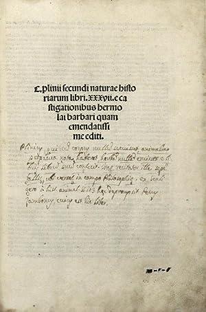 C. PLINII SECUNDI NATURAE HISTORIARUM LIBRI 37 E CASTIGATIONIBUS HERMOLAI BARBARI QUAM ...