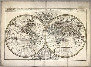 MAPPE MONDE GEO-HYDROGRAPHIQUE, OU DESCRIPTION GENERALE DU: SANSON Nicolas (1600