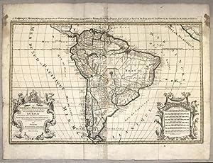 AMERIQUEMERIDIONALE DIVISEE EN SES PRINCIPALES PARTIES OU: SANSON Nicolas (1600