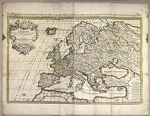 L'EUROPE, DIVISÉE SUIVANT L'ESTENDUE DE SES PRINCIPAUX: SANSON Nicolas (1600
