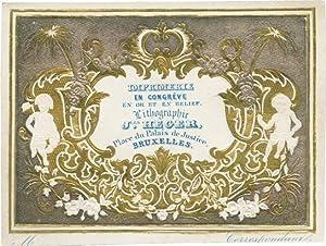 Geschäftskarte auf Glanzpapier mit Prägedruck von Jles Heger, Place du Palais de Justice,...