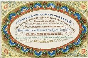 Geschäftskarte auf Porzellankarton von J.B. Ieslein, Rue de la Vierge-Noire, Nº 22, ...