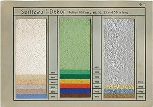 """Tapeten-Musterkarte """"Spritzwurf-Dekor"""" der Göltzsch-Papiermühle (Felix Gü..."""