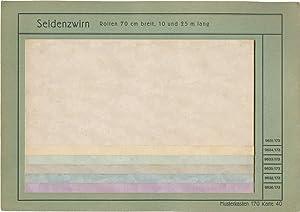 "Tapeten-Musterkarte ""Seidenzwirn"" der Göltzsch-Papiermühle (Felix Günther)..."