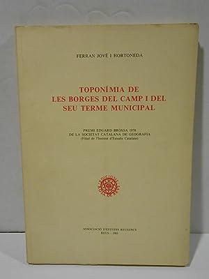 Toponímia de Les Borges del Camp i: JOVÉ I HORTONEDA,