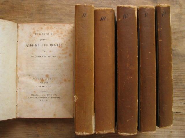 6 Bände. Briefwechsel zwischen Schiller und Goethe: Goethe / Schiller: