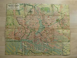 Carly Grosser Plan von Hamburg um 1925