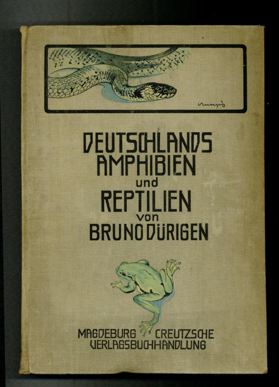 Deutschlands Amphibien und Reptilien. Eine Beschreibung und: Dürigen, Bruno: