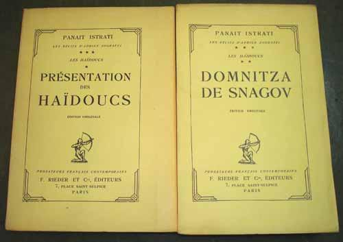 PRESENTATION DES HAIDOUCS et DOMNITZA DE SNAGOV. Les récits d'Adrien Zograffi. Les Ha&...