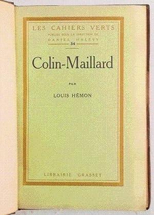 COLIN-MAILLARD.: HÉMON (Louis).