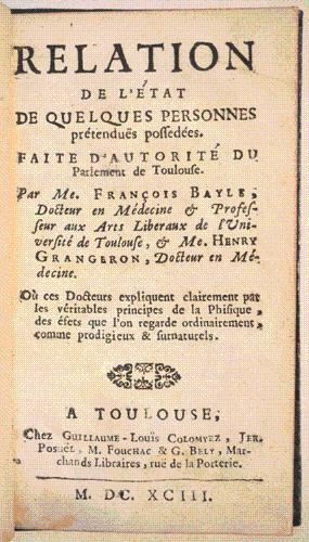 RELATION DE L'ÉTAT DE QUELQUES PERSONNES PRÉTENDUES POSSÉDÉES. ...
