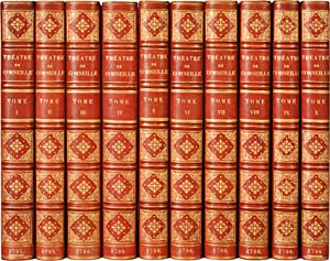 THÉÂTRE DE PIERRE CORNEILLE, avec commentaires de Voltaire. [10 volumes].: CORNEILLE (...