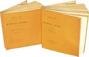 JOURNAL INTIME 1878-1881 & 1882-1885. [2 volumes].: LOTI (Pierre).
