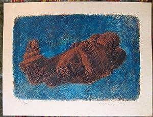 NATURE MORTE AFRICAINE (3). Lithographie.: MALBREIL (François).