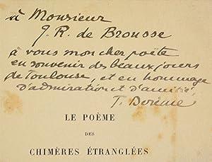 LE POÈME DES CHIMÈRES ÉTRANGLÉES.: DERÈME (Tristan).